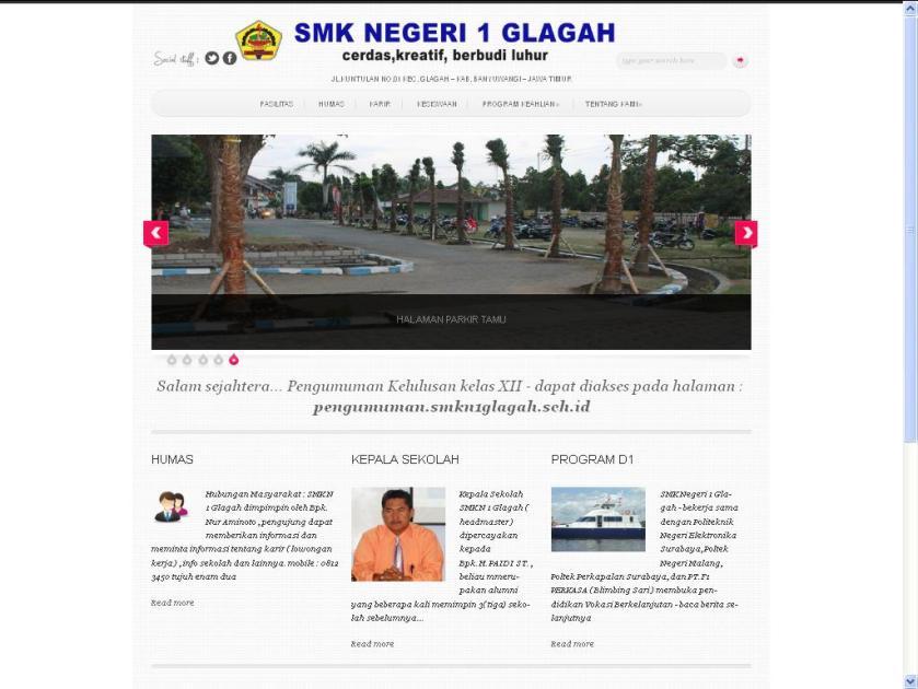 Website resmi SMKN 1 Glagah